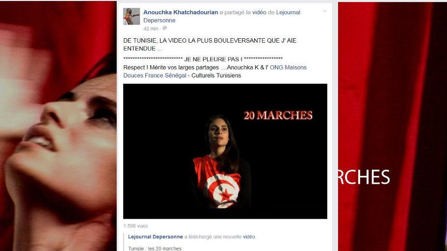 capture écran revue de presse Tunisie : les 20 marches