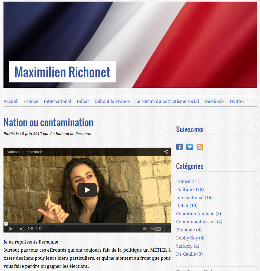 capture écran revue de presse Nation ou contamination