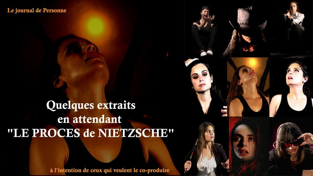 affiche composée de photos extraites de billets de Personne sur la philosophie de Friedrich Nietzsche
