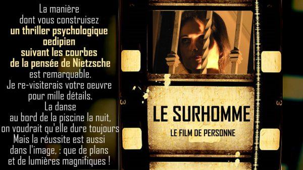 page pour le film long métrage LE SURHOMME